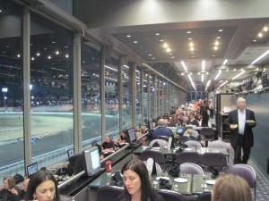 At Terraces, where every table has a good view of the action, and a personal TV.