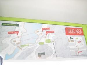 The Mountain Creek zipline tour map