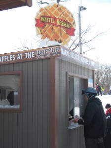This waffle house smelled delish, and was on the top of the mountain. Copyright Deborah Abrams Kaplan