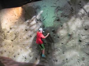 Rock climbing wall - copyright Deborah Abrams Kaplan