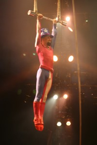 Andrey Manchev in the Big Apple Circus. Copyright Deborah Abrams Kaplan