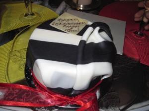 The Tammy Coe zebra cake.