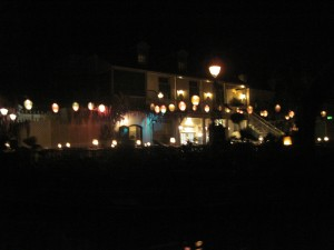 The Blue Bayou restaurant, with romantic mood lighting and fake fireflies. Yo ho yo ho! Copyright Deborah Abrams Kaplan