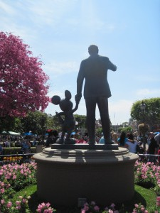 Walt and Mickey on Main Street at Disneyland. Copyright Deborah Abrams Kaplan