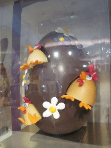 The most awesome looking chocolate egg. Copyright Deborah Abrams Kaplan