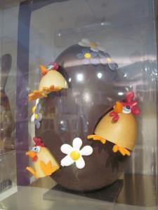 The most awesome looking chocolate egg. Copyright Deborah Abrams Kaplan