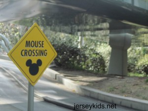 You'll find this sign on the Autopia ride.