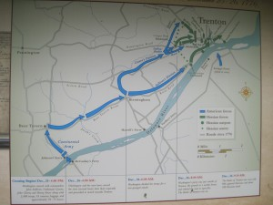 Maps on display at Washington Crossing help you appreciate what the soldiers went through to win the Battle of Trenton. Copyright Deborah Abrams Kaplan