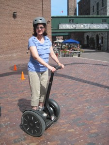 Dork on a Segway.