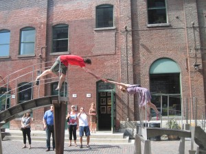 Some fun sculptures at the Distillery District. Copyright Deborah Abrams Kaplan