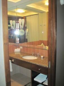 The bathroom at Hotel Giraffe. Copyright Deborah Abrams Kaplan