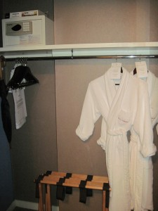 One of the larger closets at Hotel Giraffe's king suite. Deborah Abrams Kaplan