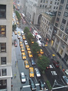 A view from the balcony onto Park Avenue South. Copyright Deborah Abrams Kaplan