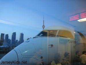 View of downtown from the Porter plane. Copyright Deborah Abrams Kaplan