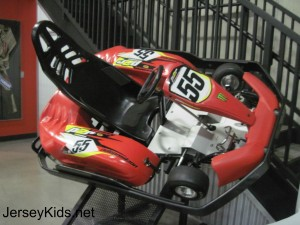 A close up of the go kart at Position Raceway in Jersey City. Copyright Deborah Abrams Kaplan