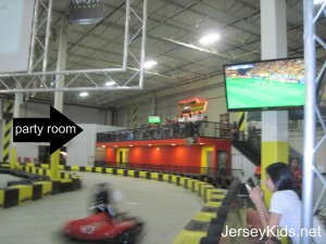 They have party rooms overlooking the raceway on two sides of the building at Pole Position Raceway. Copyright Deborah Abrams Kaplan