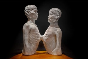 "Death Cast of ""Siamese Twins"" Chang and Eng Bunker George Widman, 2009, for the Mütter Museum of The College of Physicians of Philadelphia"