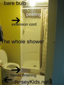 The shower for the two rooms on the 3rd floor