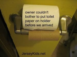 how hard would it be for the owner to put the TP roll on before we got there?