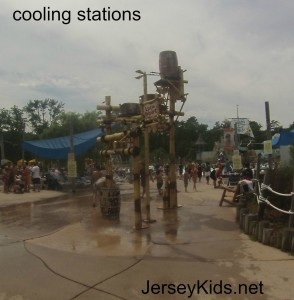 The park had several cooling stations