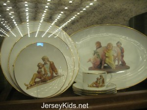 Expensive plates in the gift shop - $300 for the set