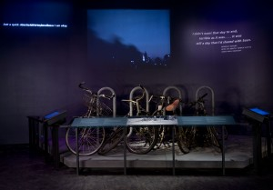 WTC bike rack, photo by Jin Lee, courtesy of 9/11 Memorial Museum