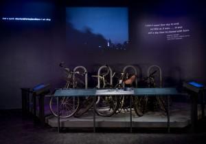 WTC bike rack, photo by Jin Lee, courtesy of 9/11 Memorial Museum