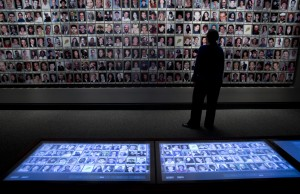 Interactive touchscreens allow you to learn more about the lives of the individuals lost in 9/11. Photo by Jin Lee, courtesy of the 9/11 Memorial Musuem