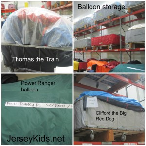 Balloons packed up and ready for transport.