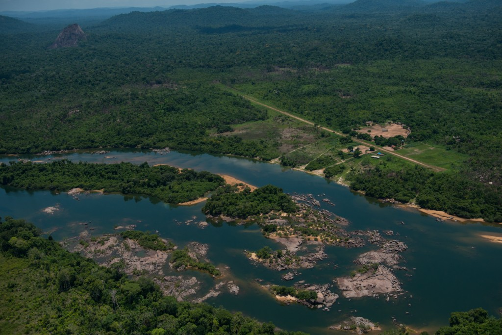Brazilian rain forest, home to the Kayapo people.