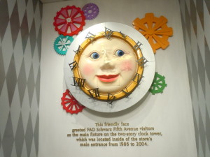 The clock was inside FAO Schwarz from 1986-2004.