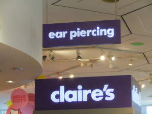 Get your ears pierced at FAO Schwarz