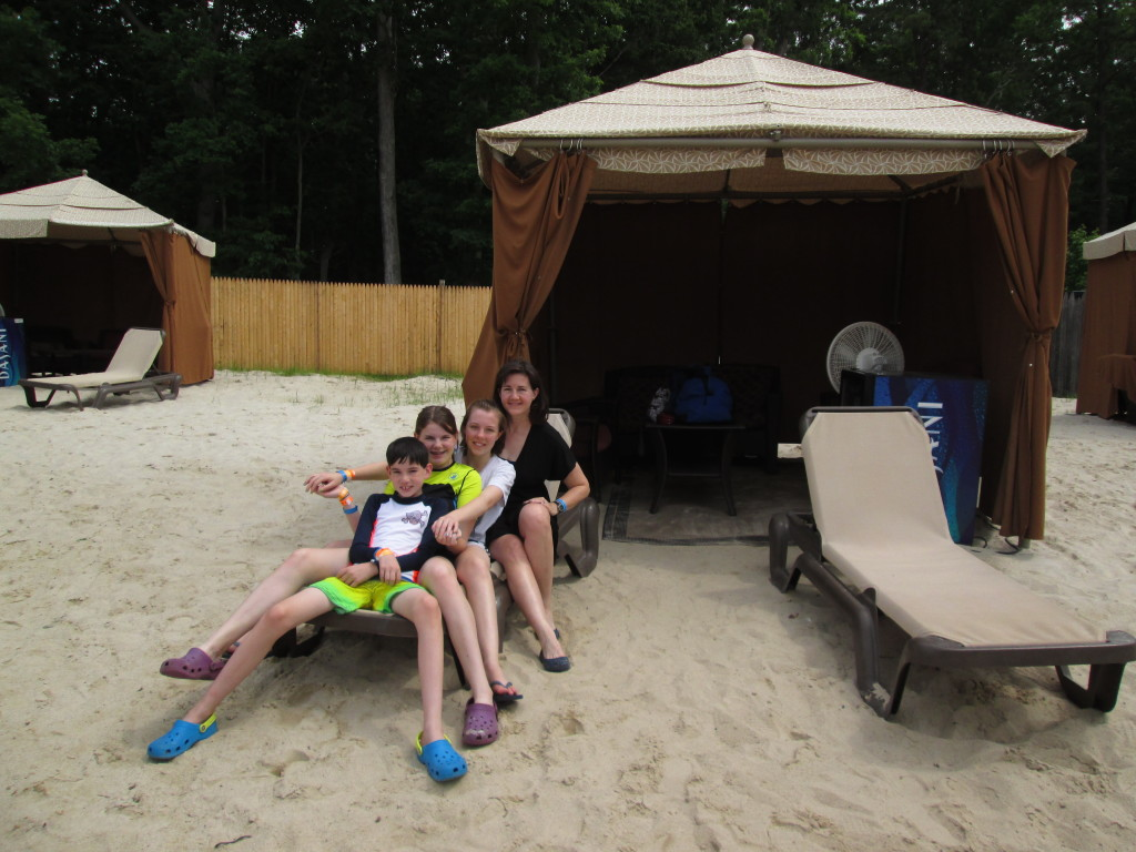 Hanging out outside our cabana. Copyright Deborah Abrams Kaplan