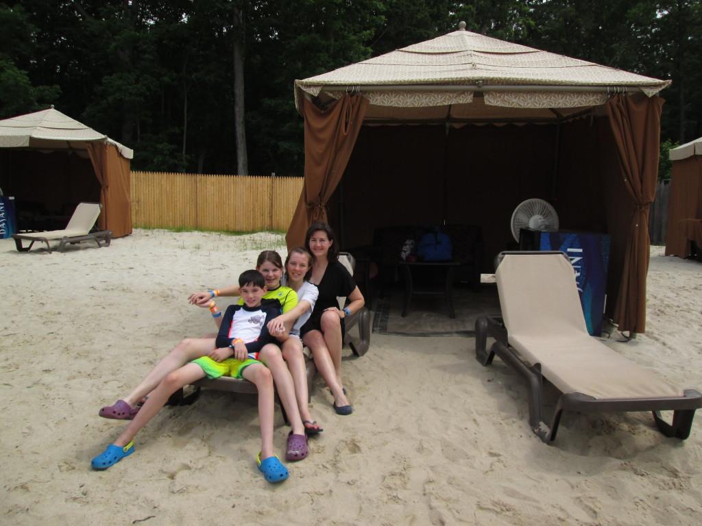 Hanging out outside our cabana. Copyright Deborah Abrams Kaplan