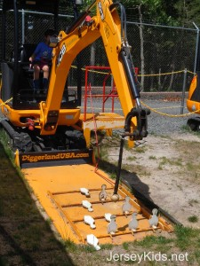 Diggerland's version of bowling.