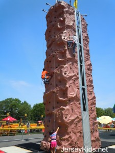 Diggerland has a big rock climbing wall that's included in the price.