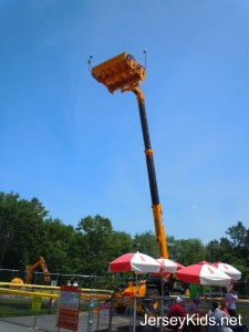 The Diggerland skyrider lifts you very very high up in the air for a great view.