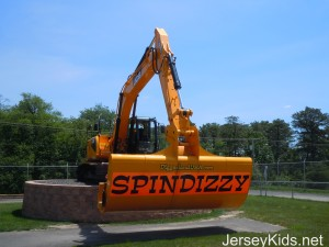 Diggerland's Spindizzy ride lives up to its name.