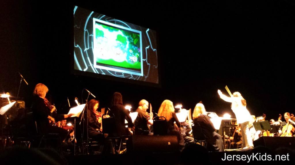 The screen during the Pokemon Symphony. Photo by Deborah Abrams Kaplan