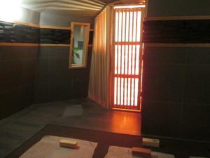 The charcoal room at Island Spa. Photo copyright Deborah Abrams Kaplan