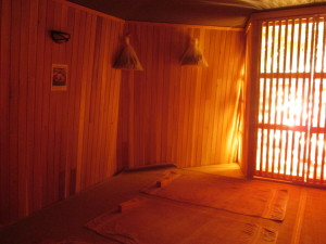 Inside forest island, the hottest one at Island Spa. Photo copyright Deborah Abrams Kaplan