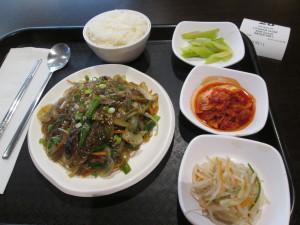 Korean lunch at the Island spa. Photo copyright Deborah Abrams Kaplan