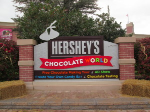 Hershey Chocolate World - a world of commerce. Copyright Deborah Abrams Kaplan