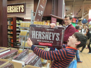 I was tempted to buy this $40 chocolate bar for our group dessert. Copyright Deborah Abrams Kaplan