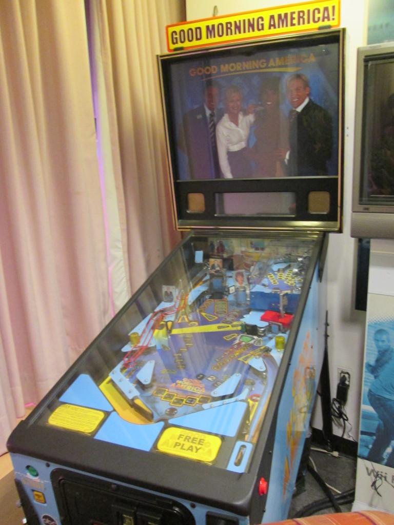 We didn't recognize the people on this old GMA pinball machine. Copyright Deborah Abrams Kaplan