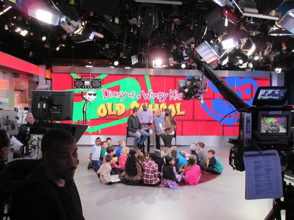 The kids get set up. Copyright Deborah Abrams Kaplan