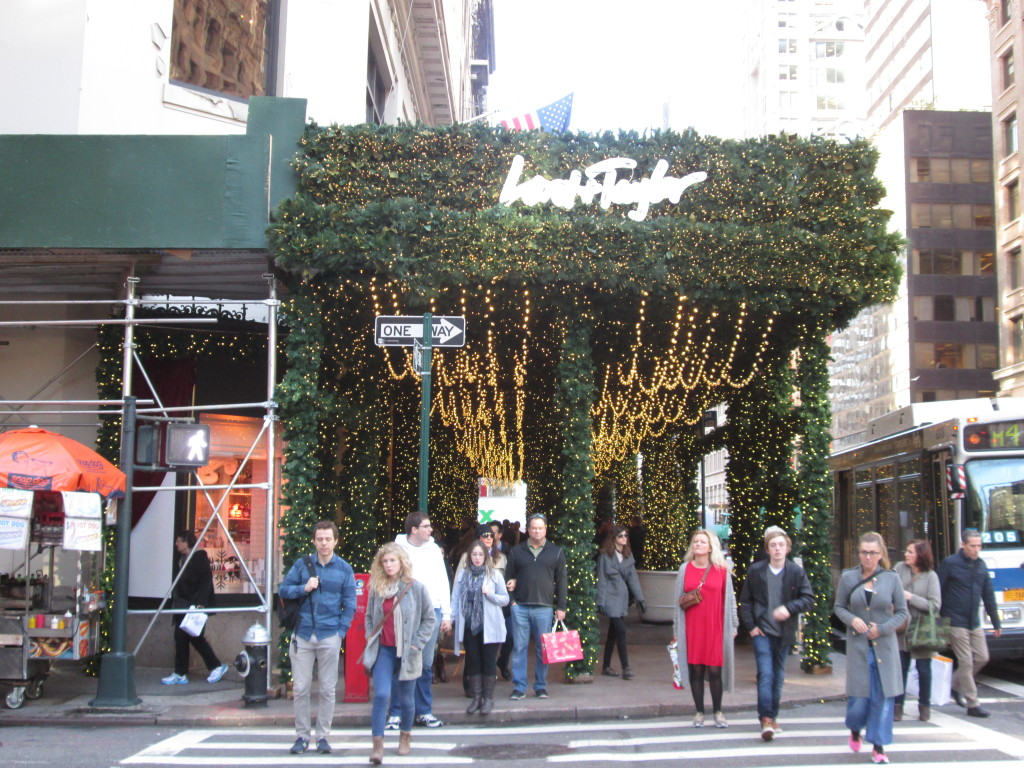 Lord & Taylor's holiday greenery