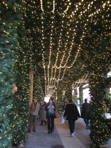 Inside the Lord & Taylor holiday greenery