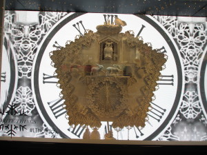 The Lord & Taylor clock. Copyright Deborah Abrams Kaplan