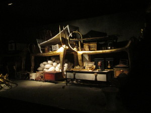 A reproduction of King Tut's antechamber as it was found by Howard Carter. Copyright Deborah Abrams Kaplan